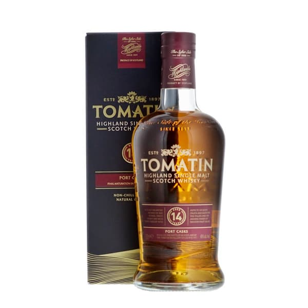 Tomatin 14 Years Port Wood Finish Whisky 70cl