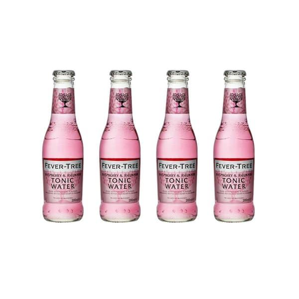 Fever-Tree Raspberry & Rhubarb Tonic Water 20cl, 4er-Pack