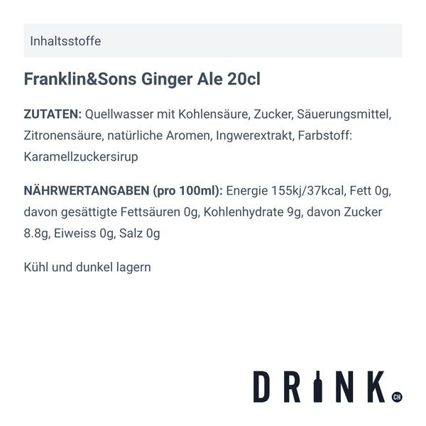 Franklin&Sons Ginger Ale 20cl, 4er-Pack