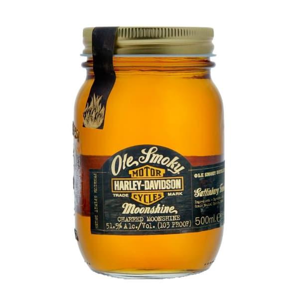 Ole Smoky Harley Davidson Charred Moonshine Whisky 50cl