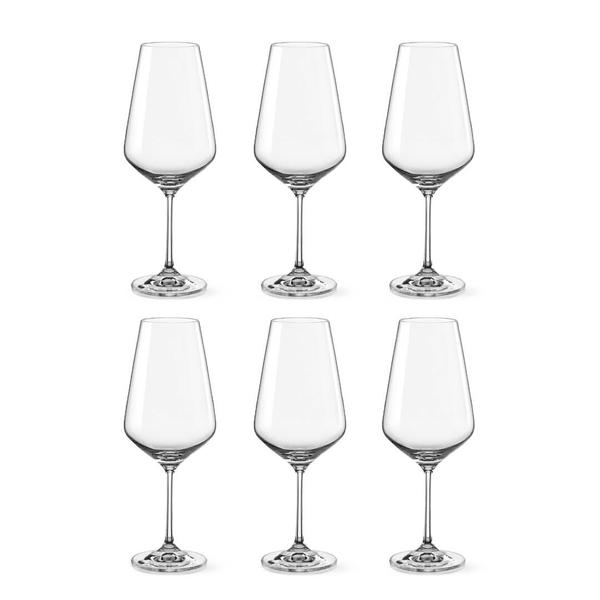 Bohemia Crystal Glass Sandra Bordeaux 55cl, 6er-Set