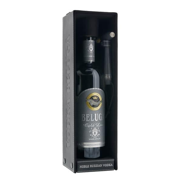 Beluga Vodka Gold Line 70cl mit Lederbox