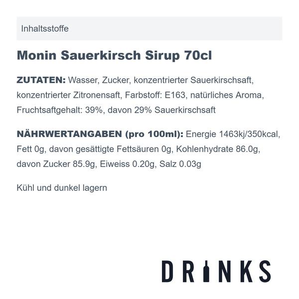 Monin Sauerkirsch Sirup 70cl