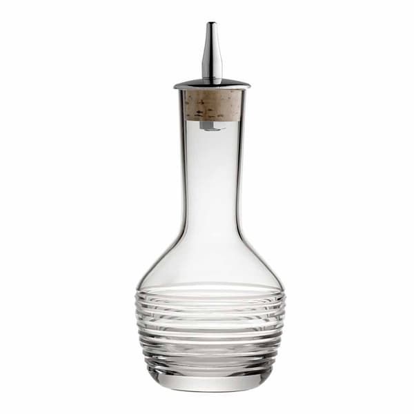 Bitterflasche mit horizontalem Schliff und Ausgiesser 9cl