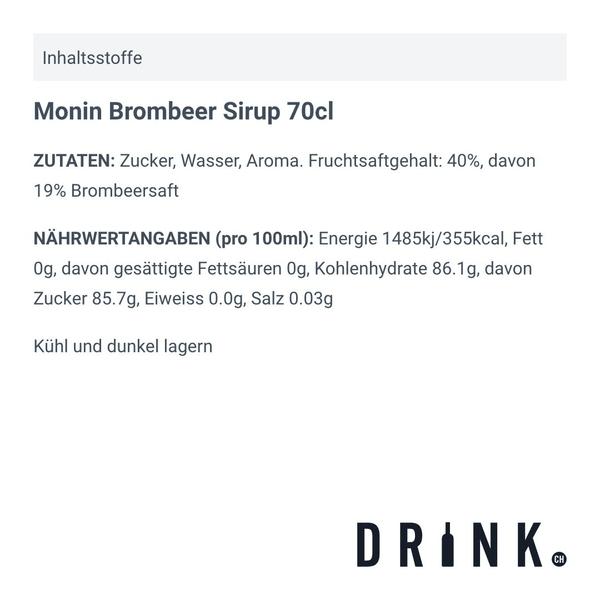 Monin Brombeer Sirup 70cl