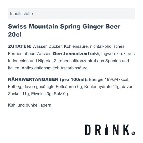 Langatun White Bio Rum 1616 70cl mit 8x Swiss Mountain Spring Ginger Beer