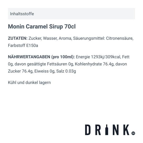Monin Caramel Sirup 70cl
