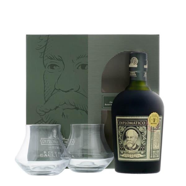 Diplomatico Reserva Exclusiva Rum Ensemble avec 2 Verres