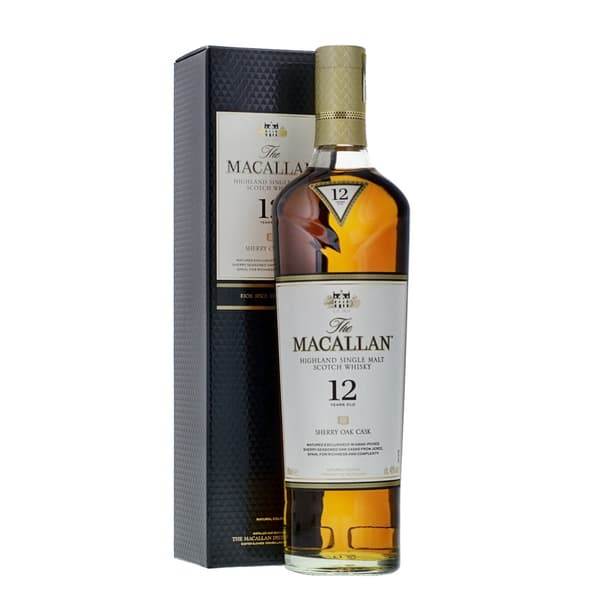The Macallan 12 Year Old Sherry Oak Single Malt Whisky 70cl