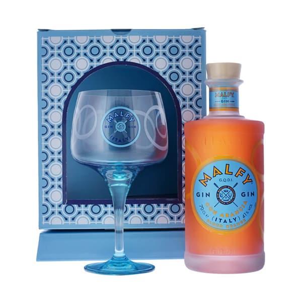 Malfy Gin con Arancia 70cl Set mit Glas