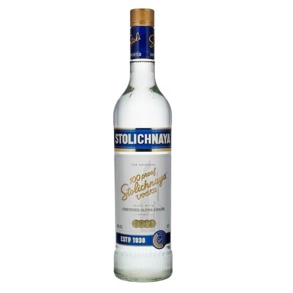 Stolichnaya Vodka Blue 100 Proof 75cl