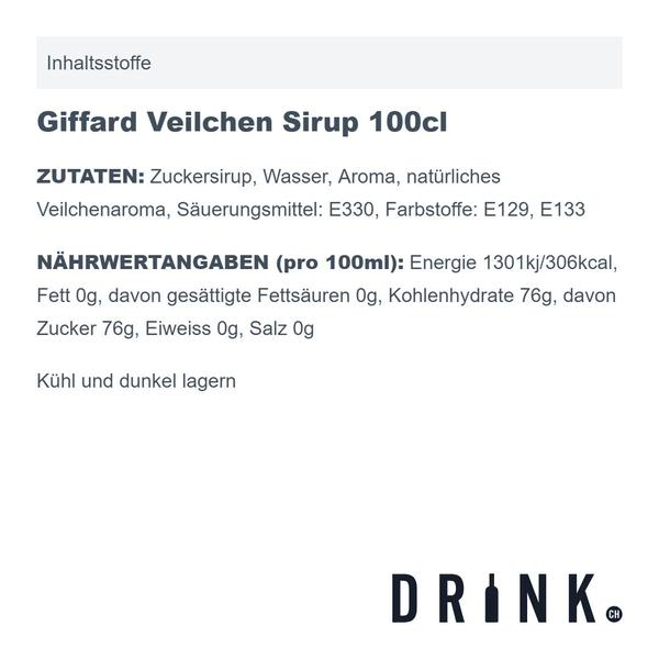 Giffard Veilchen Sirup 100cl