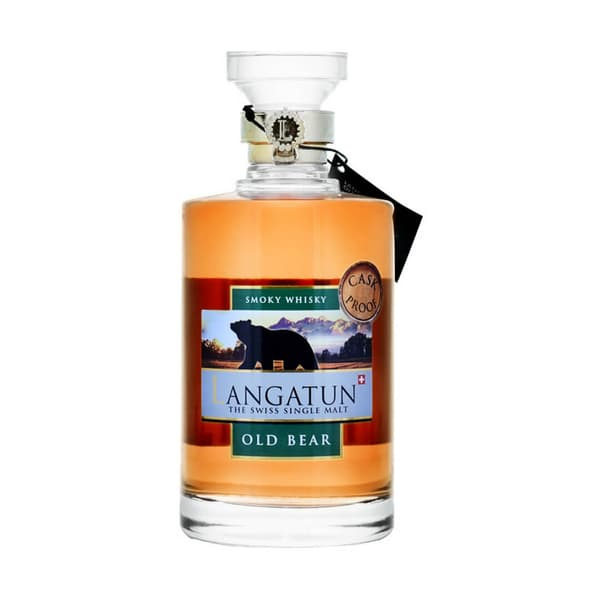Langatun Old Bear Whisky Smoky Cask Proof 62.9% 50cl